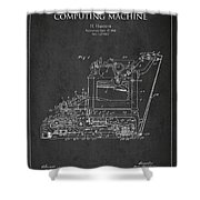 Vintage Typewriter Patent From 1918 Shower Curtain by Aged Pixel