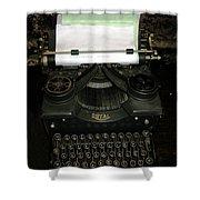 Vintage Typewriter Mechanical Shower Curtain