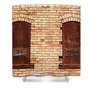 Vintage Urban Brick Building - Salt Lake City Shower Curtain