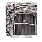 Vintage V8 Shower Curtain