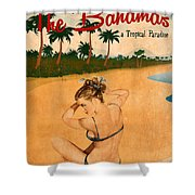Vintage Vacation Ad Shower Curtain