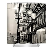Vintage Vancouver Chinatown 1961 Shower Curtain