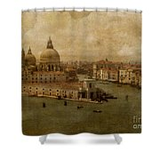Vintage Venice Shower Curtain by Lois Bryan