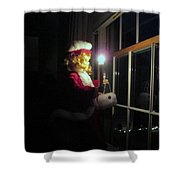 Vintage Victorian Christmas Doll Shower Curtain