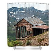Vintage View Alaska Shower Curtain by Ron Day