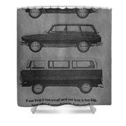 Vintage Volkswagen Ad 1971 Shower Curtain