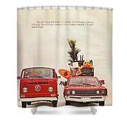 Vintage Volkswagen Camper Van  Shower Curtain