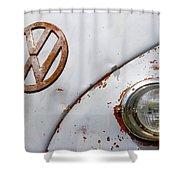 Vintage Vw Badge Shower Curtain