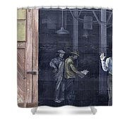 Vintage Warehouse Shower Curtain
