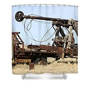 Vintage Water Well Drilling Truck Shower Curtain