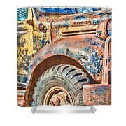Vintage Welding Truck Shower Curtain