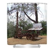 Vintage Well Driller 2 Shower Curtain