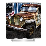 Vintage Willy's Jeep Pickup Truck Shower Curtain