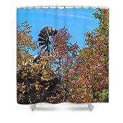 Vintage Wind Power Shower Curtain