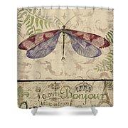 Vintage Wings-paris-f Shower Curtain