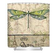 Vintage Wings-paris-g Shower Curtain