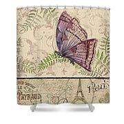 Vintage Wings-paris-i Shower Curtain