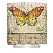 Vintage Wings-paris-l Shower Curtain