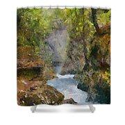 Vintgar Gorge Shower Curtain