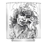 Viola On The Phone Shower Curtain