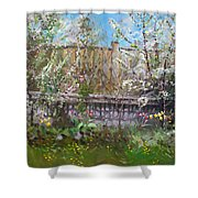 Viola's Apple And Cherry Trees Shower Curtain