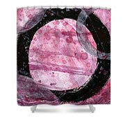 Violet Circles 2 Shower Curtain