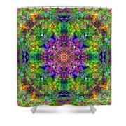 Violet Cosmos Mandala Shower Curtain