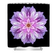 Violet Dahlia I Flower Mandala Shower Curtain