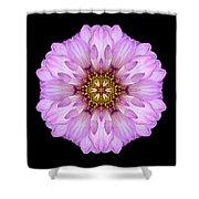 Violet Dahlia II Flower Mandala Shower Curtain