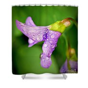 Violet Drops Shower Curtain
