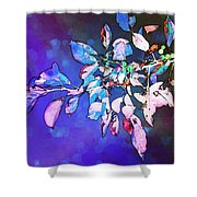 Violet Illumination Shower Curtain