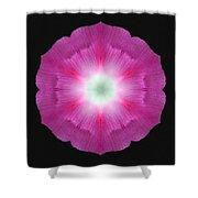 Violet Morning Glory Flower Mandala Shower Curtain