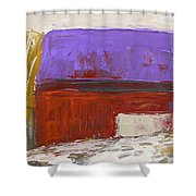 Violet Roof Shower Curtain