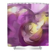 Violet Summer Pastel Abstract Shower Curtain