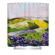Violet Sunrise Shower Curtain