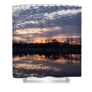Violet Twilight On The Lake Shower Curtain