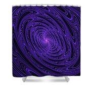 Violet Vortex-3 Shower Curtain