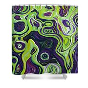 Violeta E Verde Shower Curtain