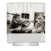 Violin Ensemble Shower Curtain