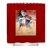 Violin Man Shower Curtain