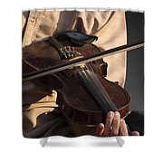 Violin Melody Shower Curtain