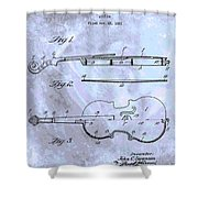 Violin Patent Poster Shower Curtain