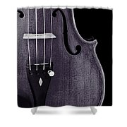 Violin Viola Body Photograph Or Picture In Sepia 3265.01 Shower Curtain