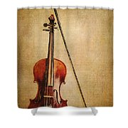Violin With Bow Shower Curtain