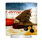 Virgin America A320 Shower Curtain