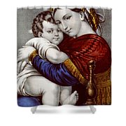 Virgin And Child Circa 1856  Shower Curtain by Aged Pixel