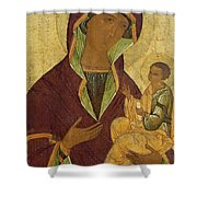 Virgin And Child Shower Curtain by Russian School