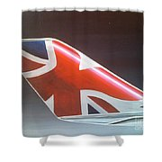 Virgin Atlantic Winglet Shower Curtain