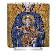 Virgin Mary And Christ Child Shower Curtain