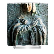 Virgin Mary Relief Shower Curtain